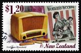 Postage stamp New Zealand 1999 Old Radio, Nostalgia poster