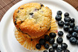 Blueberries with a Fresh Blueberry Muffin