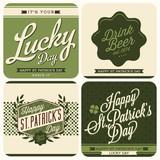 4 Typographic Saint Patricks Day Design poster