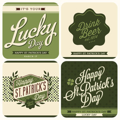 4 Typographic Saint Patricks Day Design