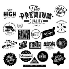 Vintage Styled Premium Quality Label collection