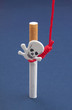 Cigarettes with scull and hanging rope