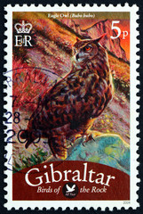 Postage stamp Portugal 2008 Eagle Owl, Bubo Bubo, Bird