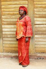 Black African woman in traditional clothing