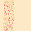 raster summer berries vertical seamless pattern background