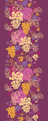 raster sweet grape vines vertical seamless pattern background