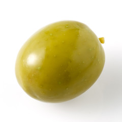 green olive isolated on white