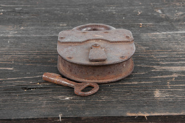 old lock with a key