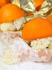 Orangen als Verpackung