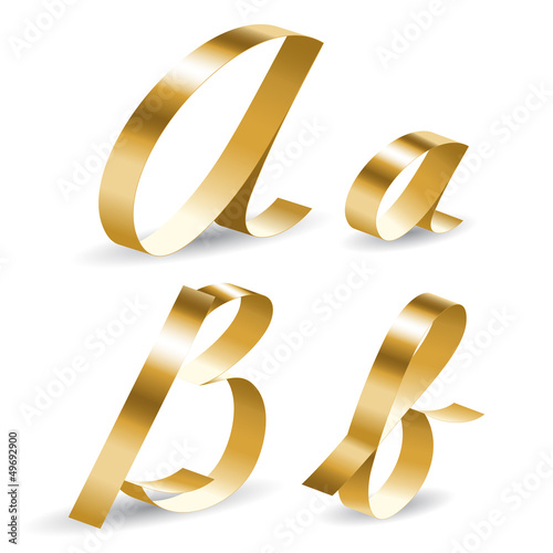 Ribbon alphabet ab