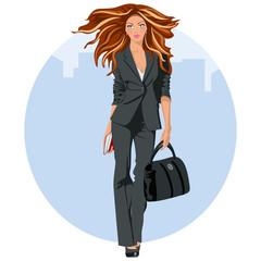 Mujer de negocios elegante
