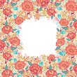 Raster colorful vibrant flowers elegant vertical pattern