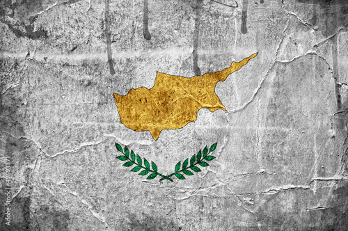 Flag of Cyprus overlaid with grunge texture