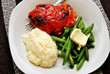 Tasty Chicken Thigh with Side Dishes