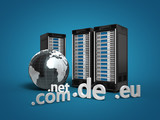 3 Webserver mit Globus und Top-Level-Domains blau