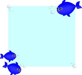 illustrazione di simpatici pesciolini blu