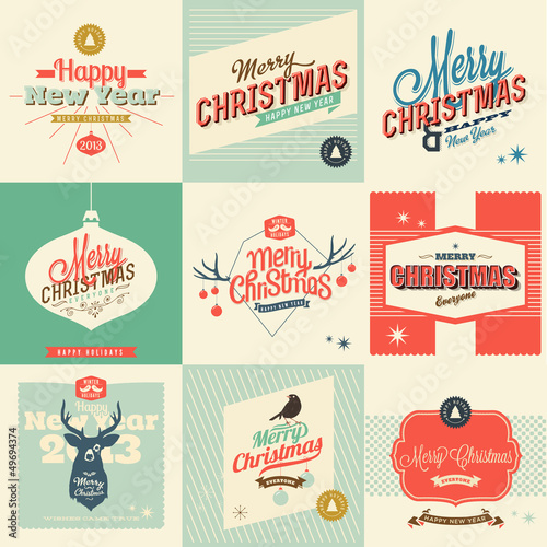 9 Vintage styled Christmas Card