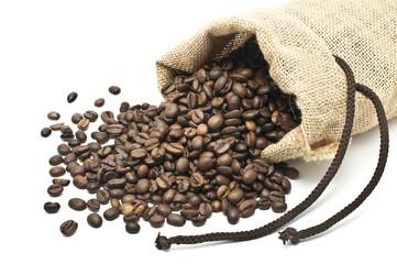 sacchetto di yuta con caffe'