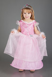 Beautiful princess in Cinderella dress poster