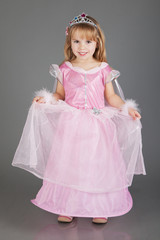 Beautiful princess in Cinderella dress