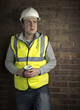 construction worker / builder on coffee break