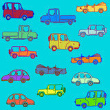 Cars in different color