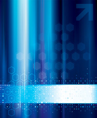 Blue abstract technology digital background.