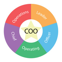 COO circular concept with colors and star