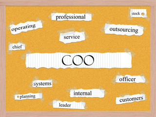 COO Corkboard Word Concept
