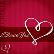 I Love You card in vector format.