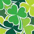 Shamrock scatter sticker card in vector format.