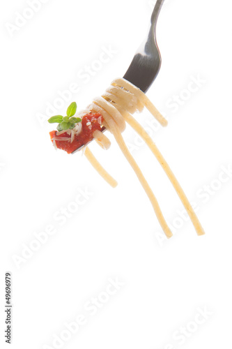 Whole Grain Pasta on fork