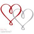Infinity heart card in vector format.