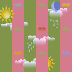Lovely Tile Weather Forecast Background