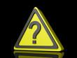 Question Mark Caution Icon Dark BG