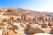 Persian ruins in Persepolis, northeast Shiraz, Iran.