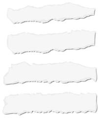 Papier, zerrissen