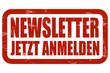 Grunge Stempel rot NEWSLETTER JETZT ANMELDEN