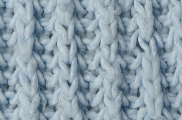Blue knitted wool