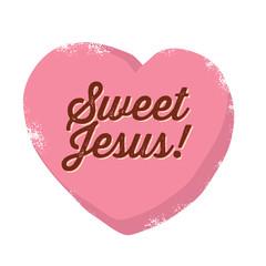 Vintage Christian design, Sweet Jesus