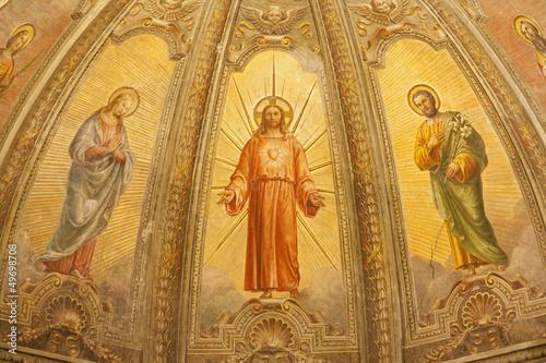 Verona -  Fresco of Resurrected Jesus from Santa Eufemia