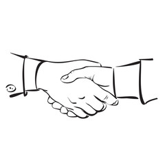 Handshake. Hand drawn sketch