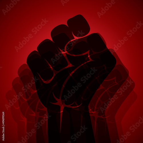 power and unity show hand stock vector