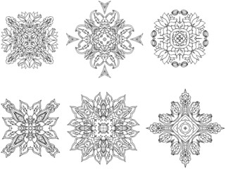 snowflake design elements