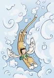 gato volador poster
