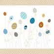 Eggflowers Pattern Retro Dots