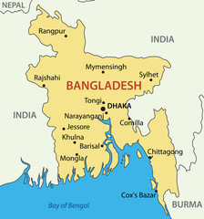 People's Republic of Bangladesh - vector map