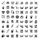 big cleaning icons set