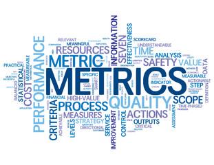 """METRICS"" Tag Cloud (statistics figures data information kpi)"