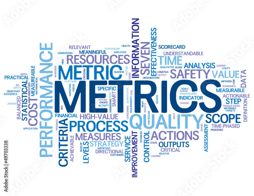"""METRICS"" Tag Cloud (statistics figures data information kpi)"